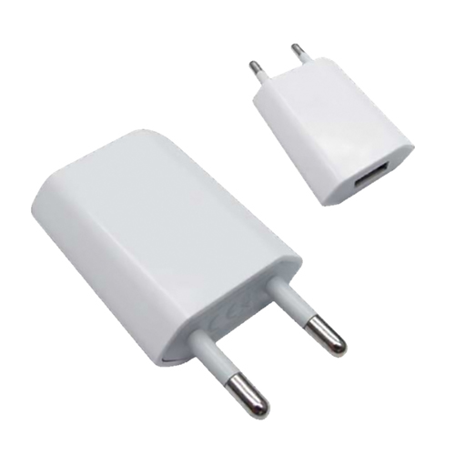 Mini cargador USB para iPod iPhone.5V-1A. Blanco